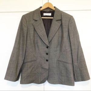 Tahari Arthur S. Levine Womens Blazer Gray Button